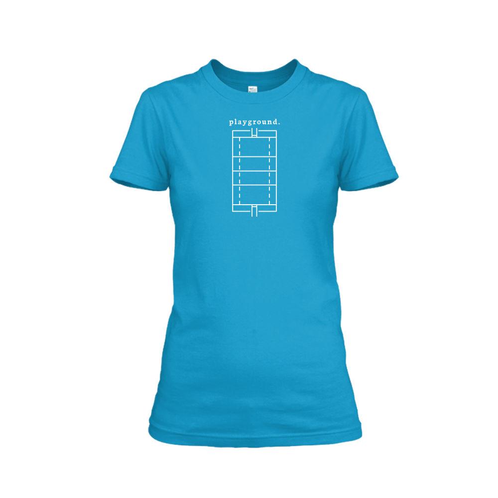 playground shirt damen turqois front