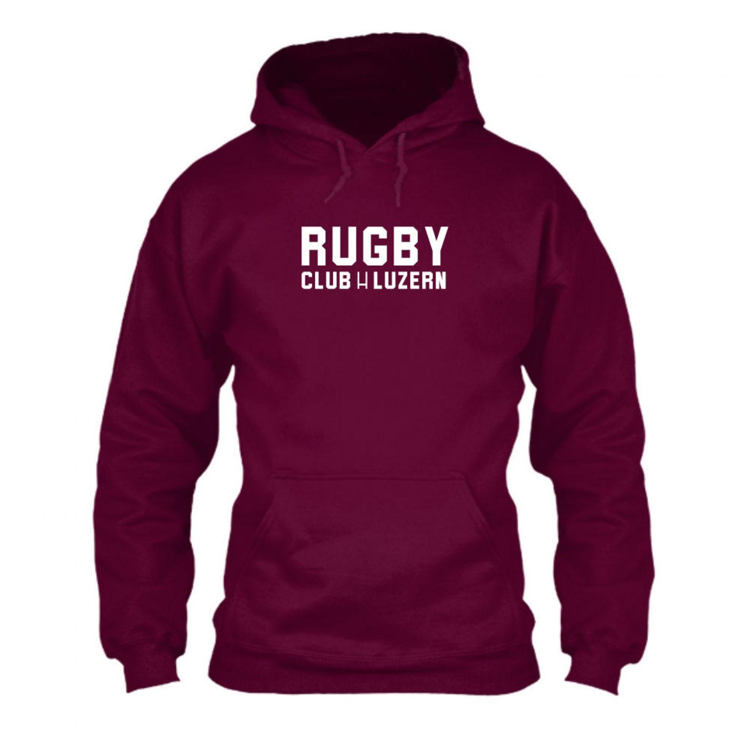 rugbyH hoodie herren burgundy