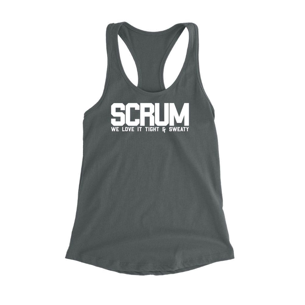 scrum tank damen dark-grey front