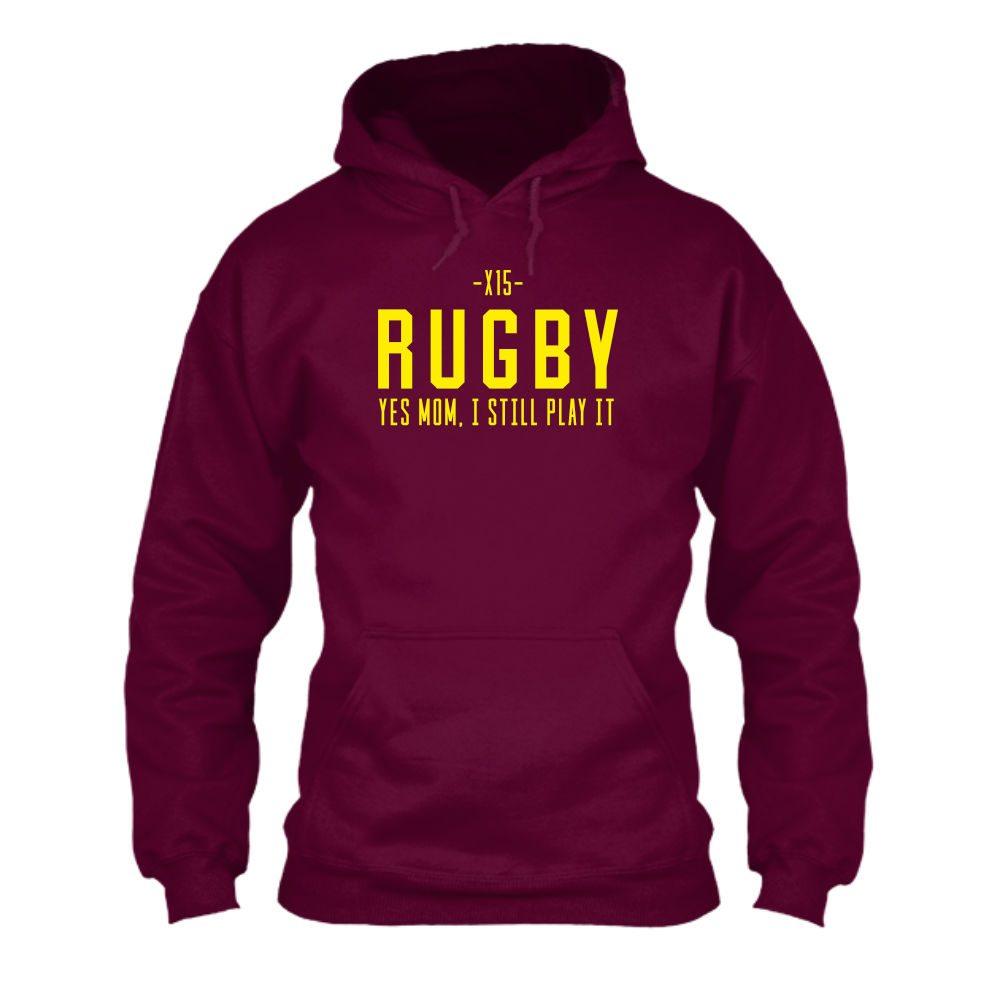 yesmom hoodie herren burgundy
