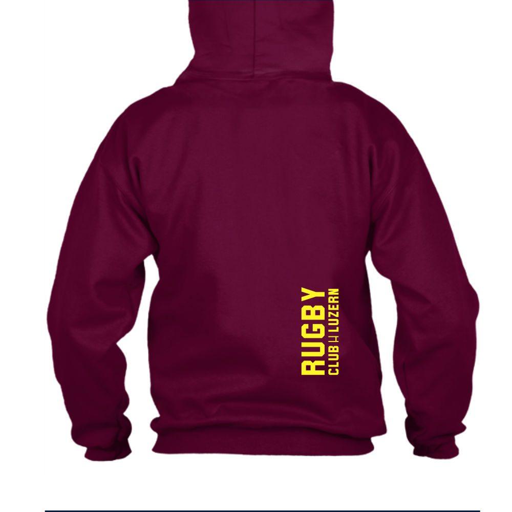 yesmom hoodie herren burgundy back