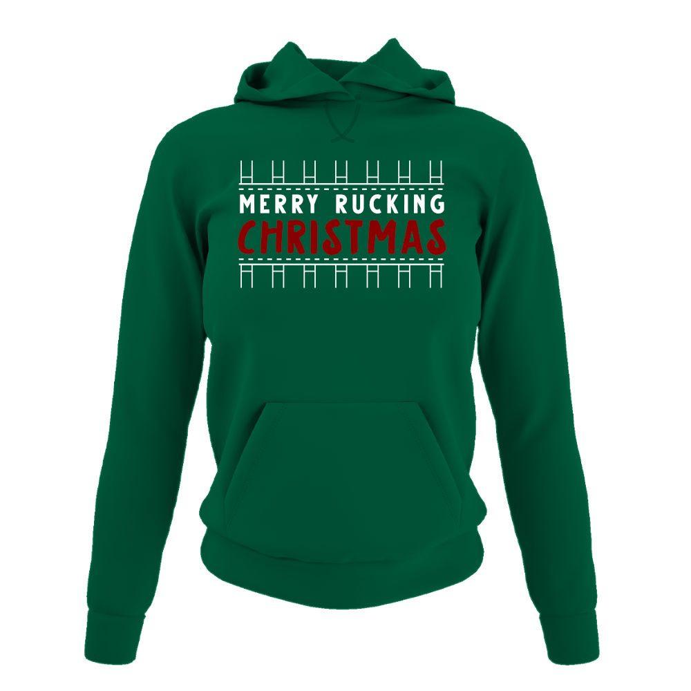 merryruckingchristmas damen hoodie green