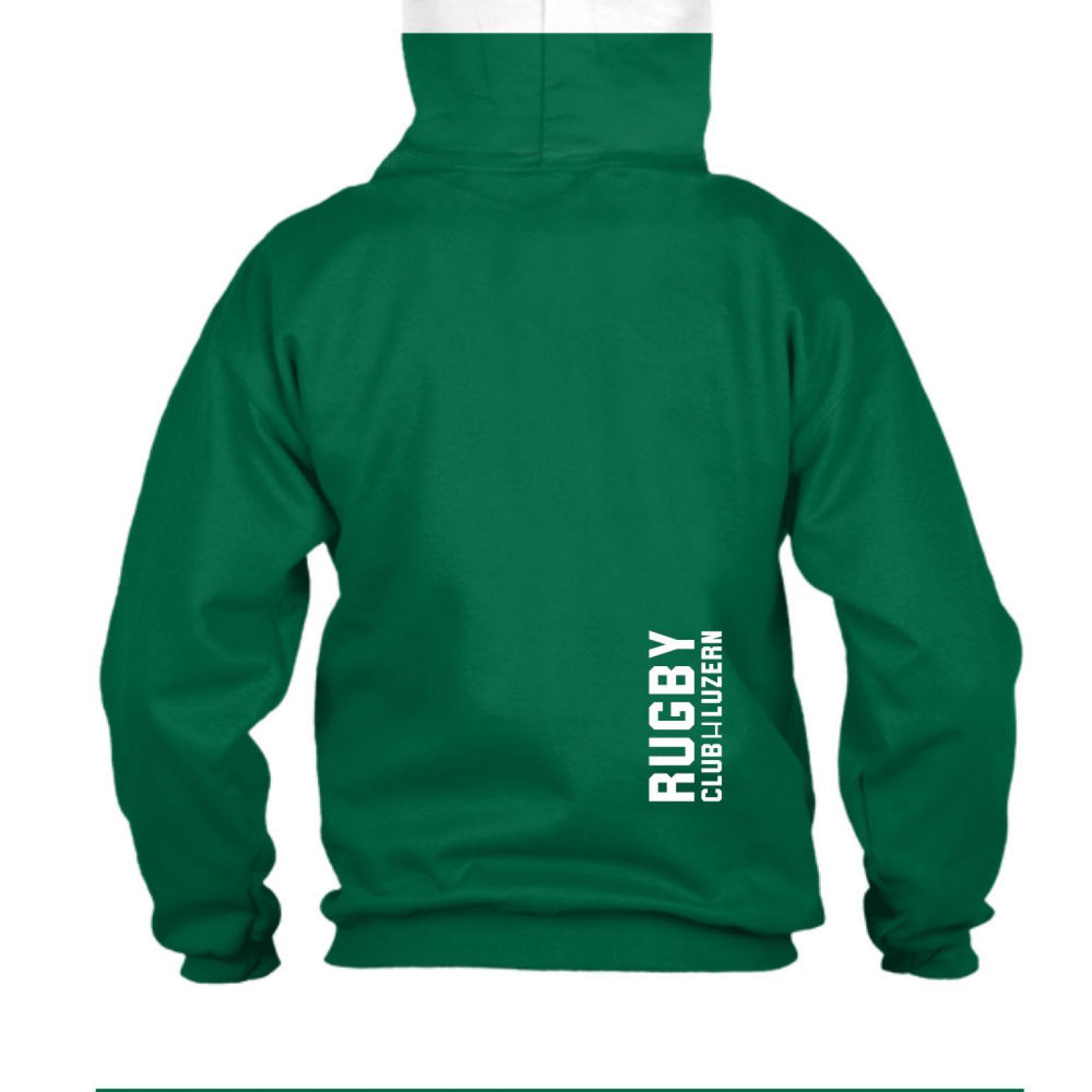 merryruckingchristmas herren hoodie green back