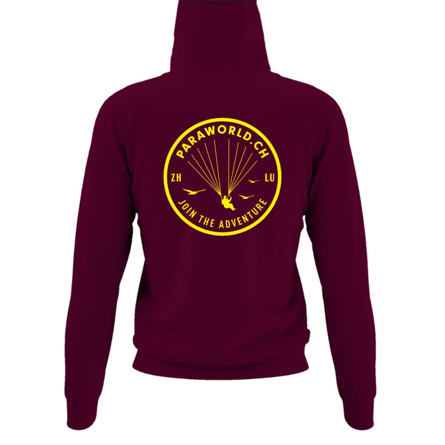 JTA b hoodie damen burgundy back-1