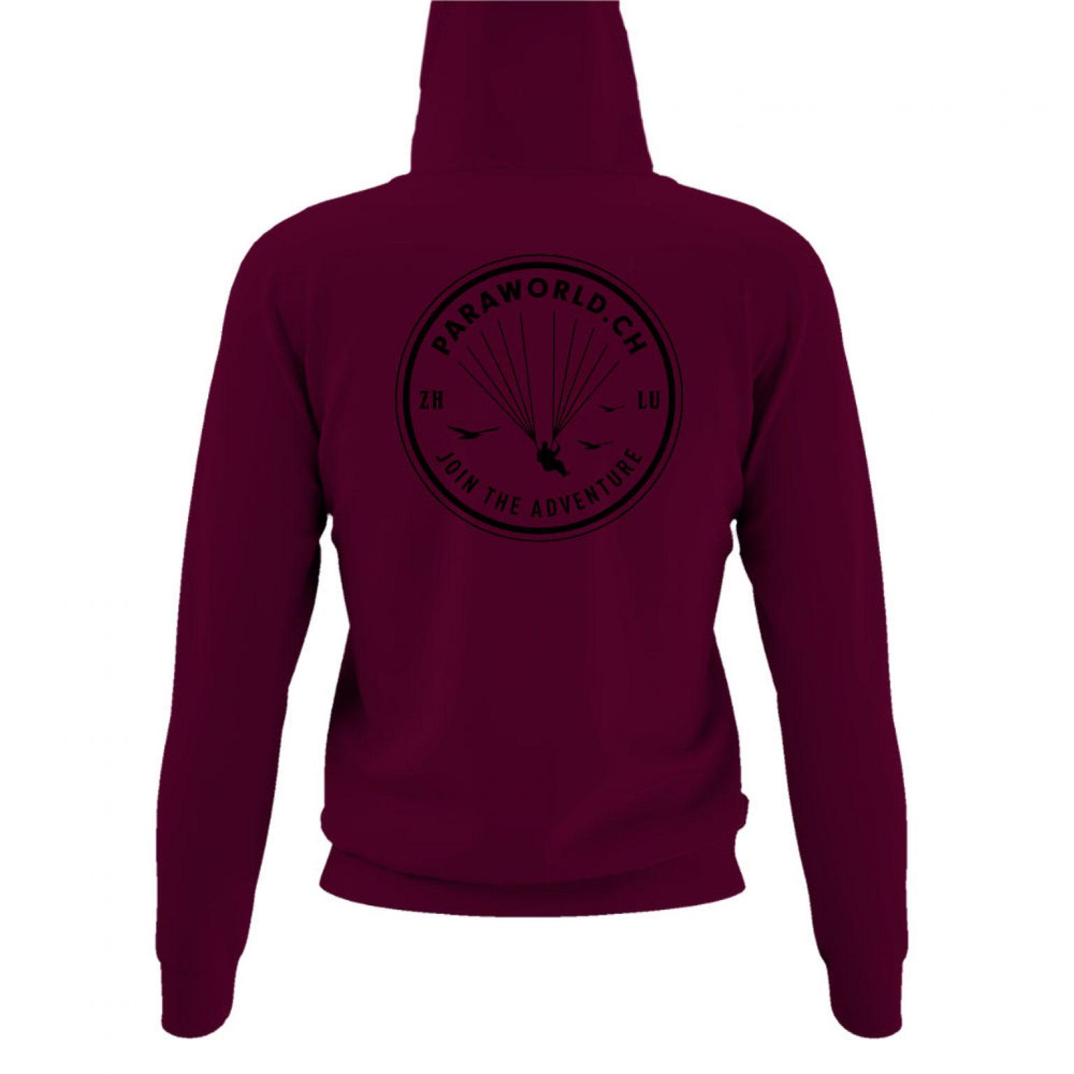 JTA b hoodie damen burgundy back