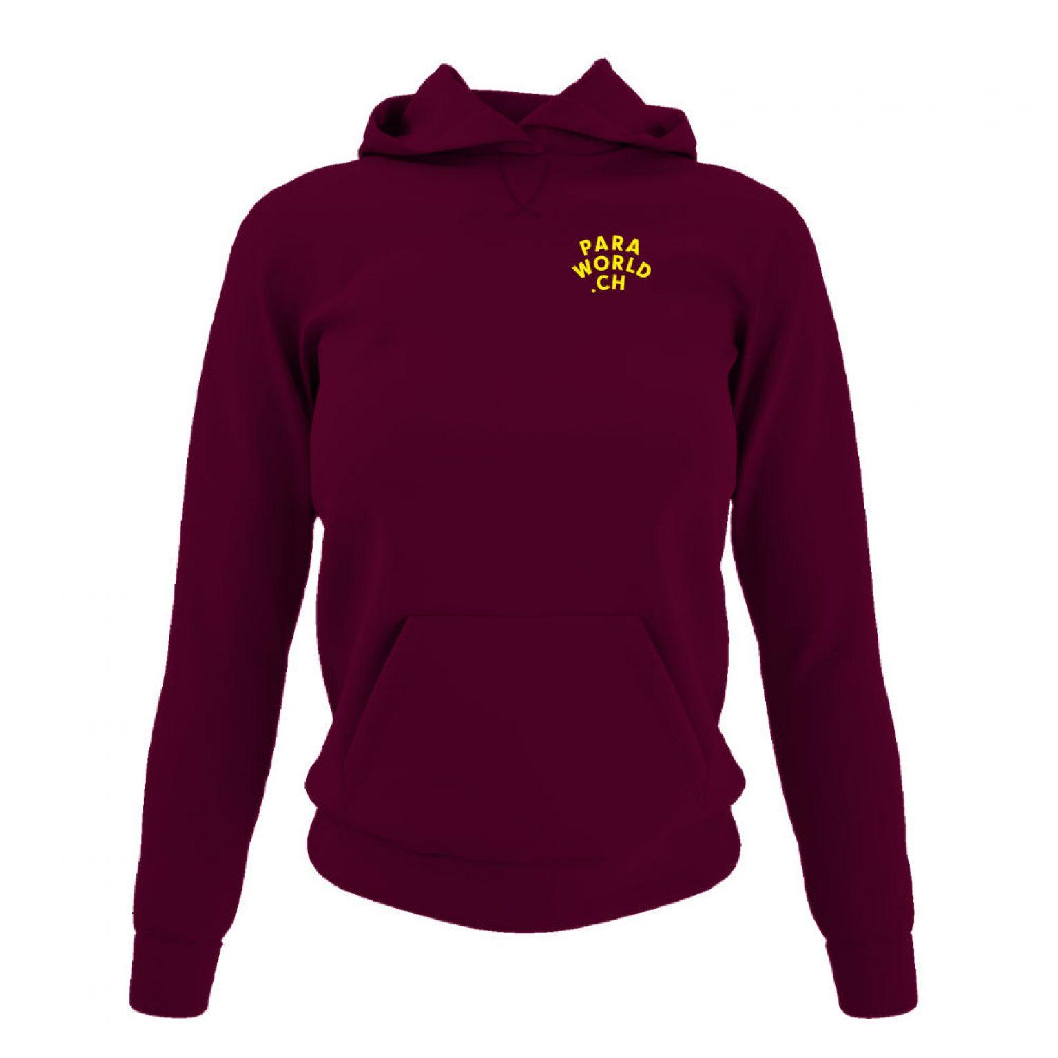 JTA b hoodie damen burgundy front-1
