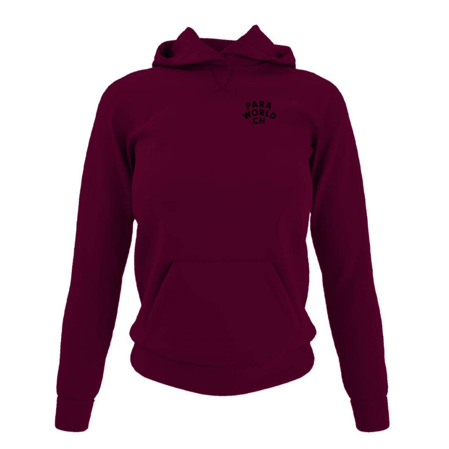 JTA b hoodie damen burgundy front
