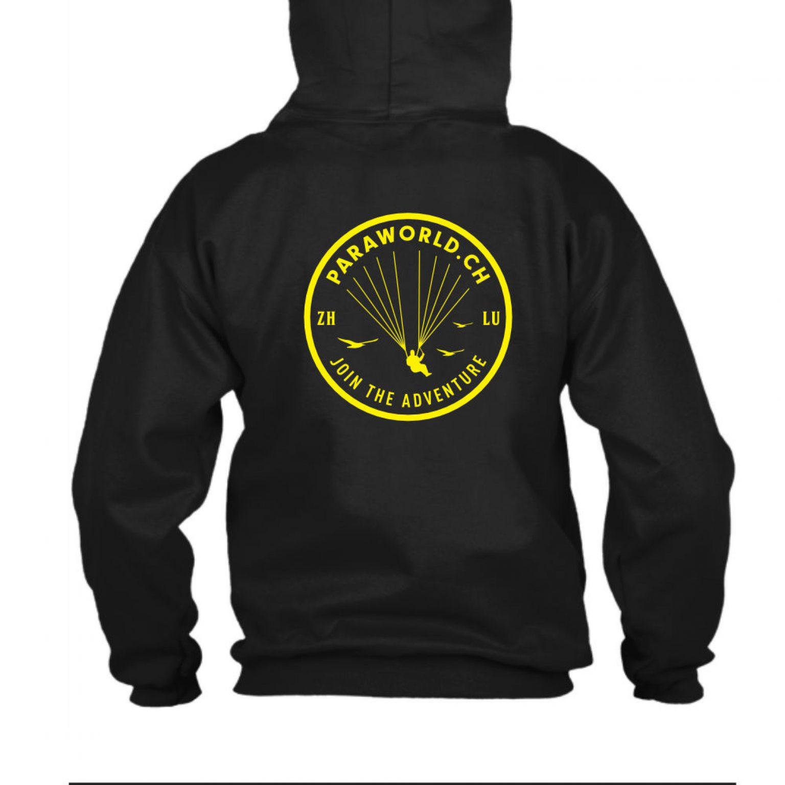 JTA b hoodie herren black back