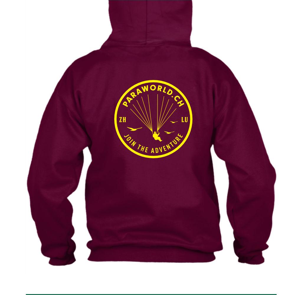 JTA b hoodie herren burgundy back-1