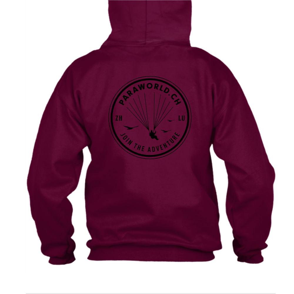 JTA b hoodie herren burgundy back