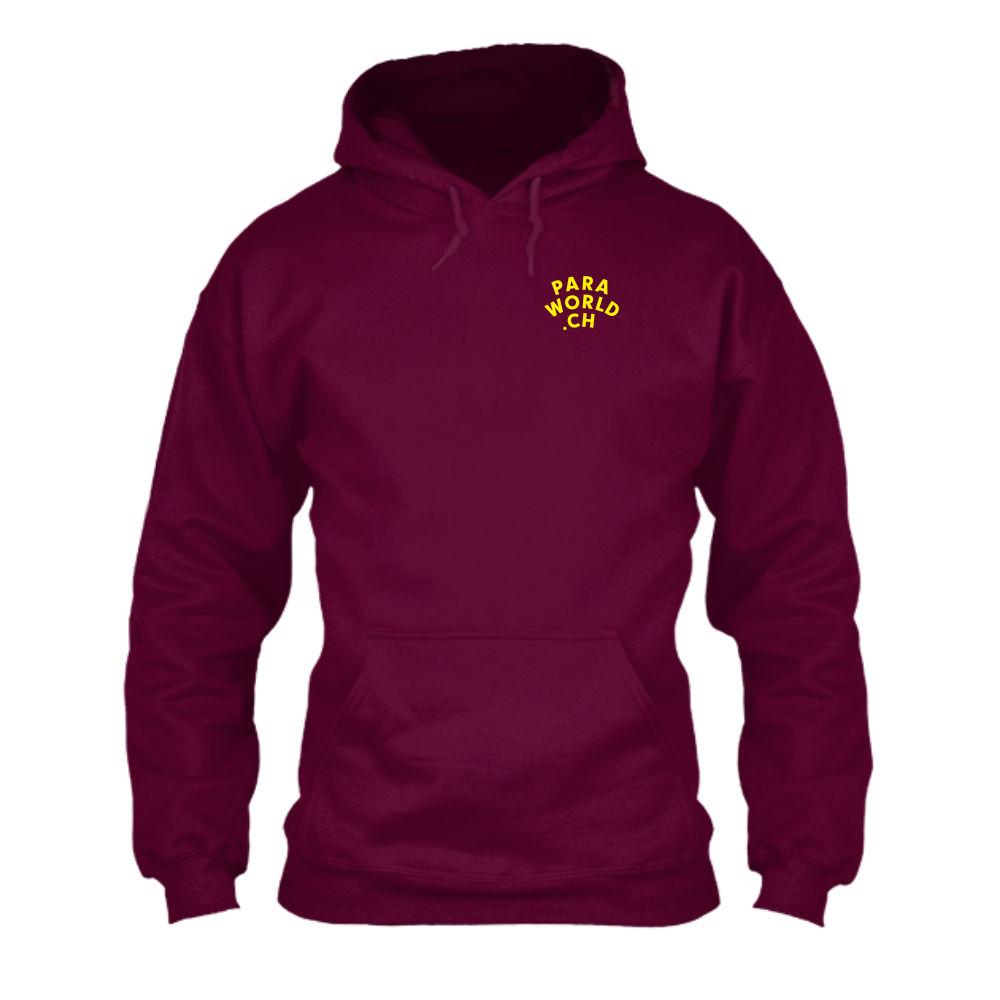 JTA b hoodie herren burgundy front-1