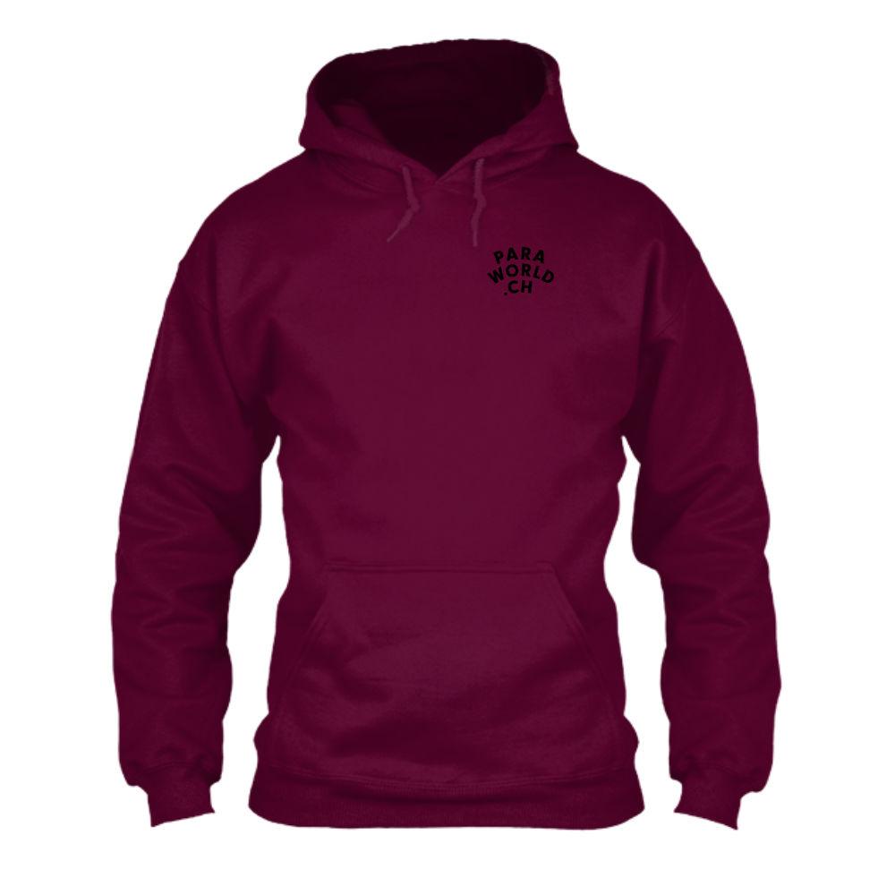 JTA b hoodie herren burgundy front
