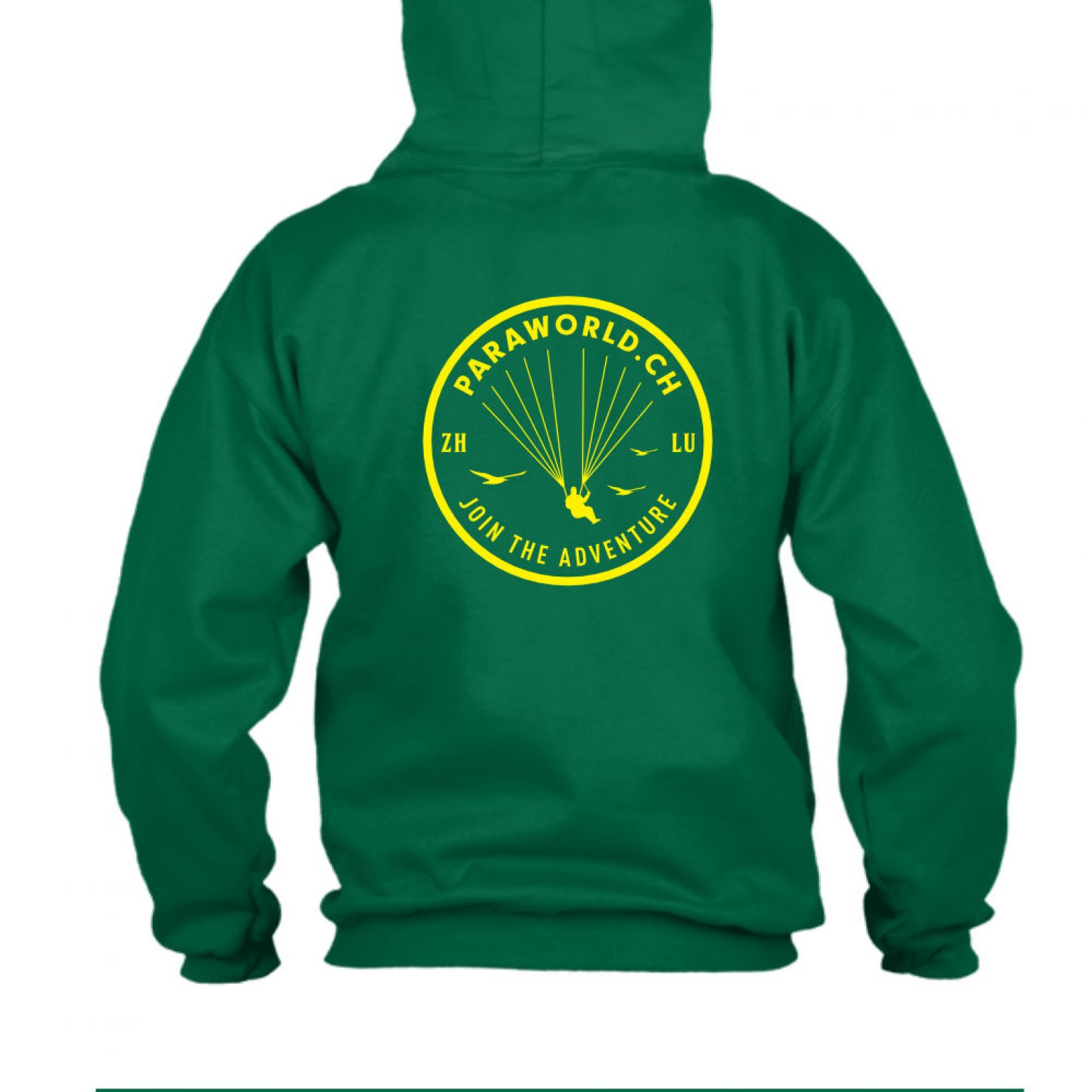 JTA b hoodie herren green back