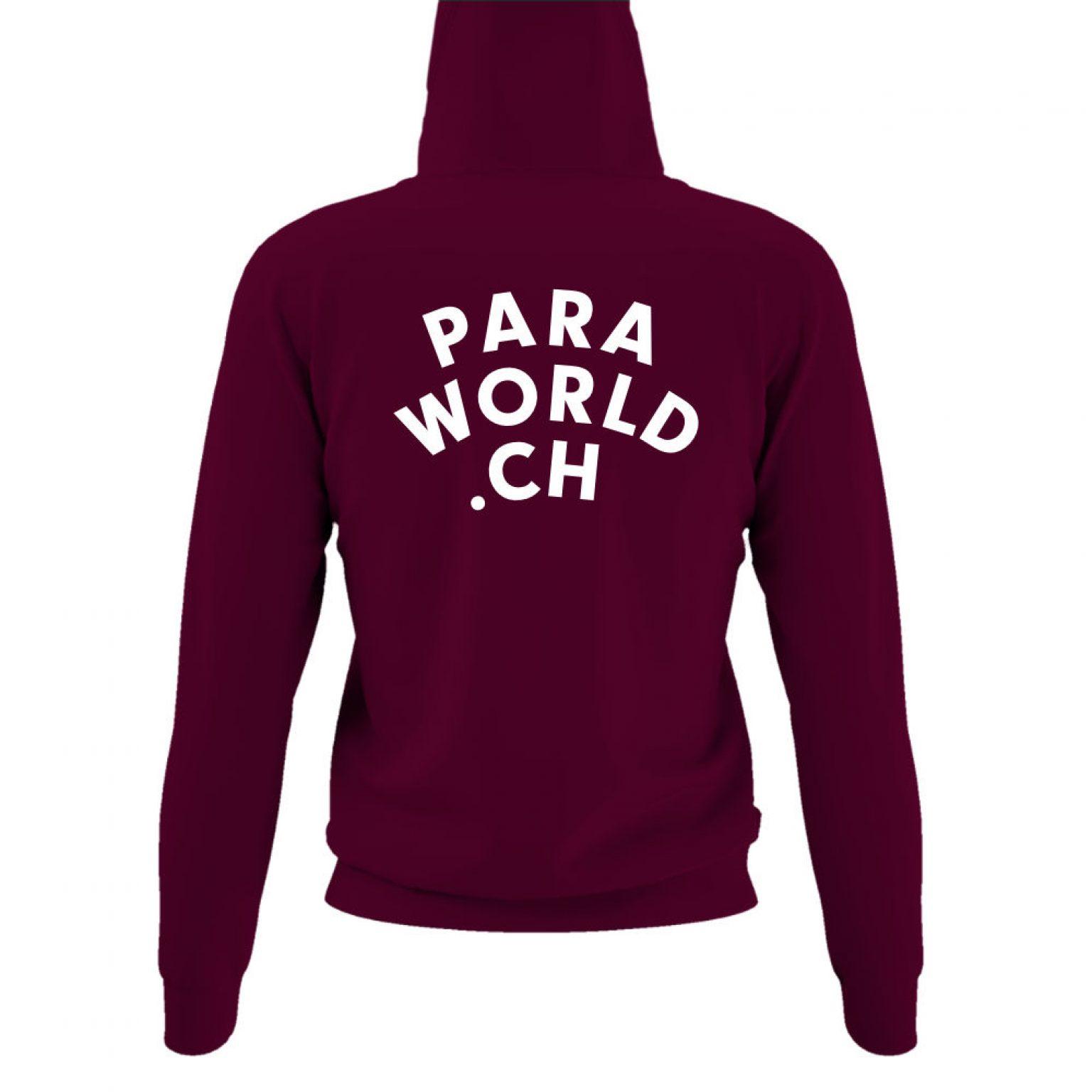 JTA s hoodie damen burgundy back