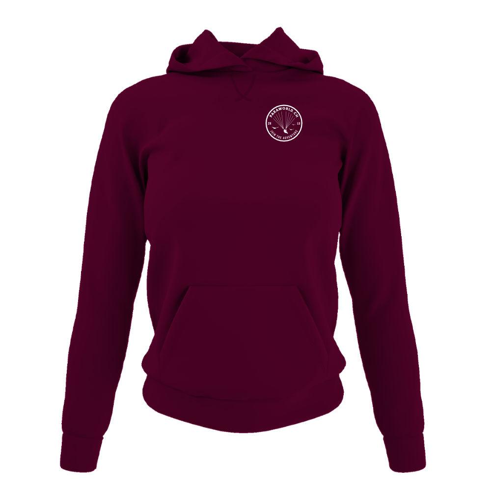 JTA s hoodie damen burgundy front