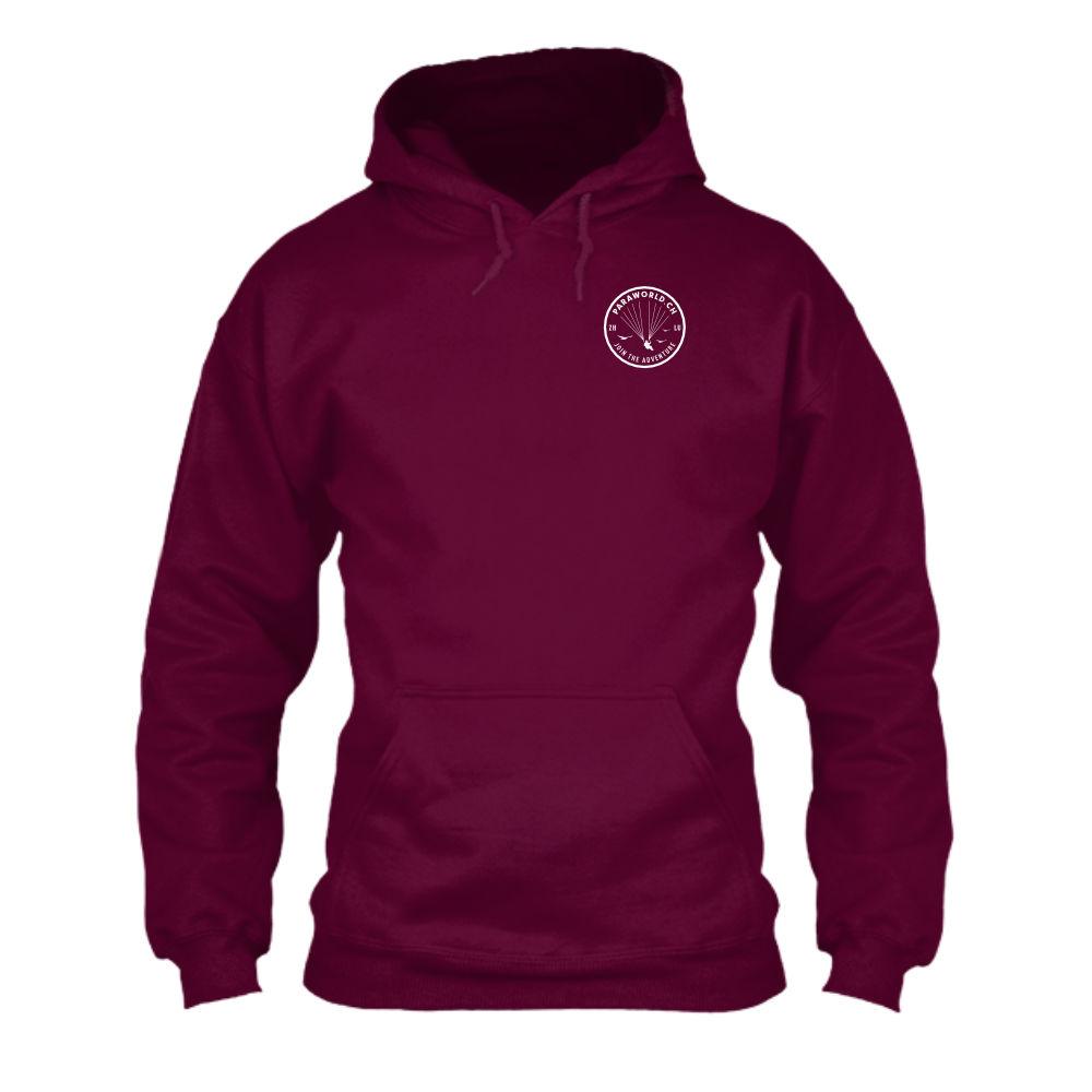 JTA s hoodie herren burgundy front