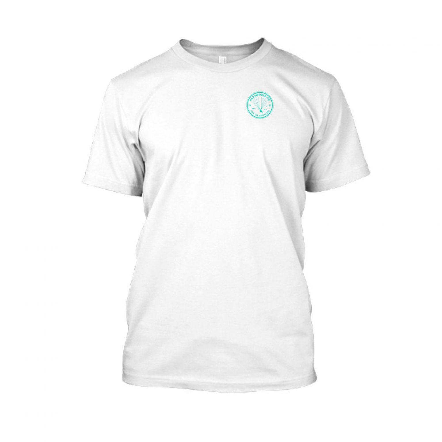 JTA s turqois shirt herren white front