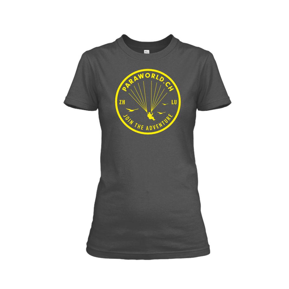 JTA yellow shirt damen charcoal
