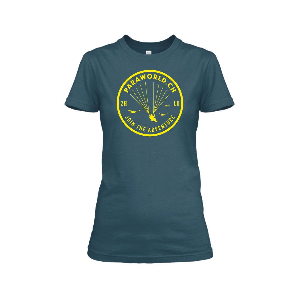 JTA yellow shirt damen navy