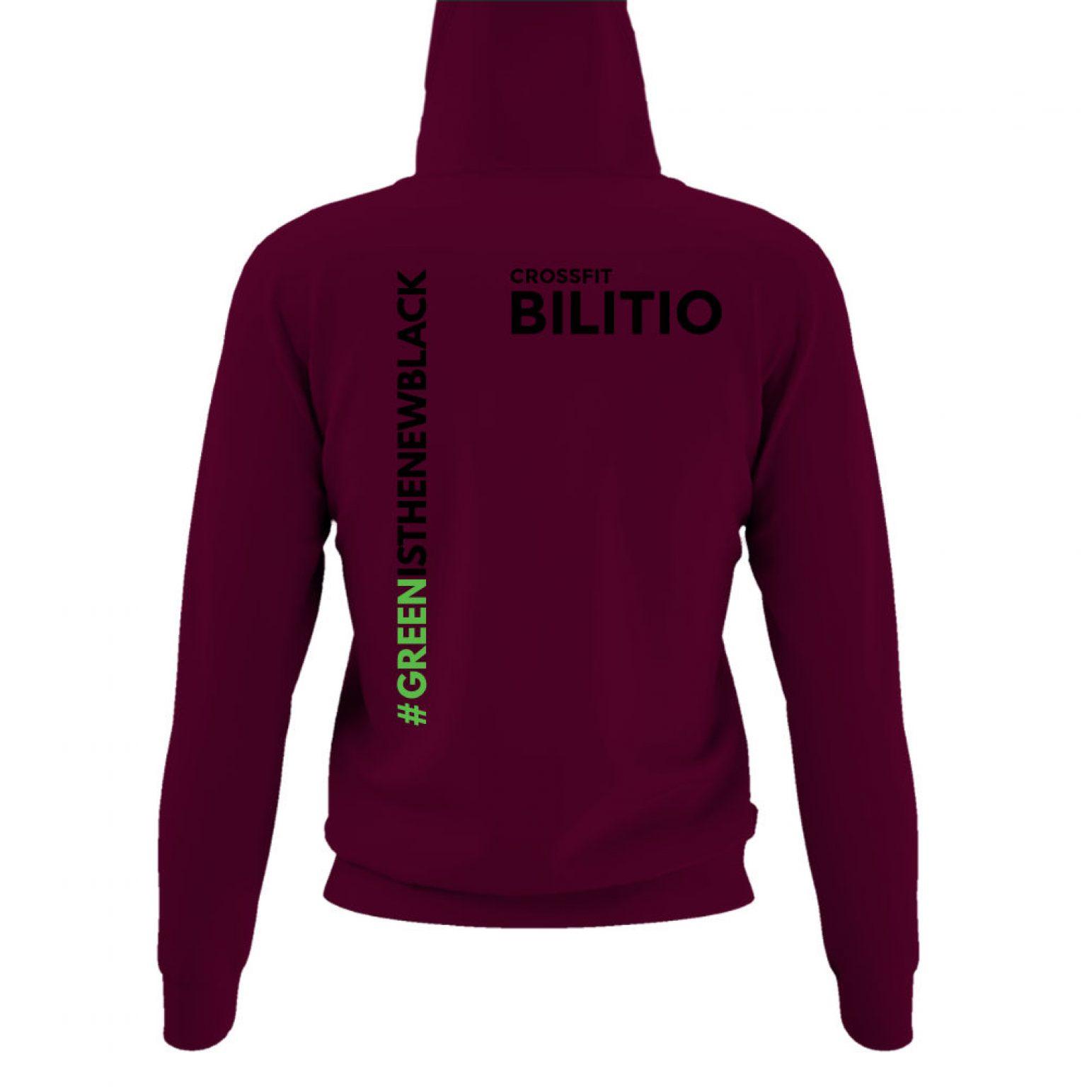 CFB hoodie damen burgundy back