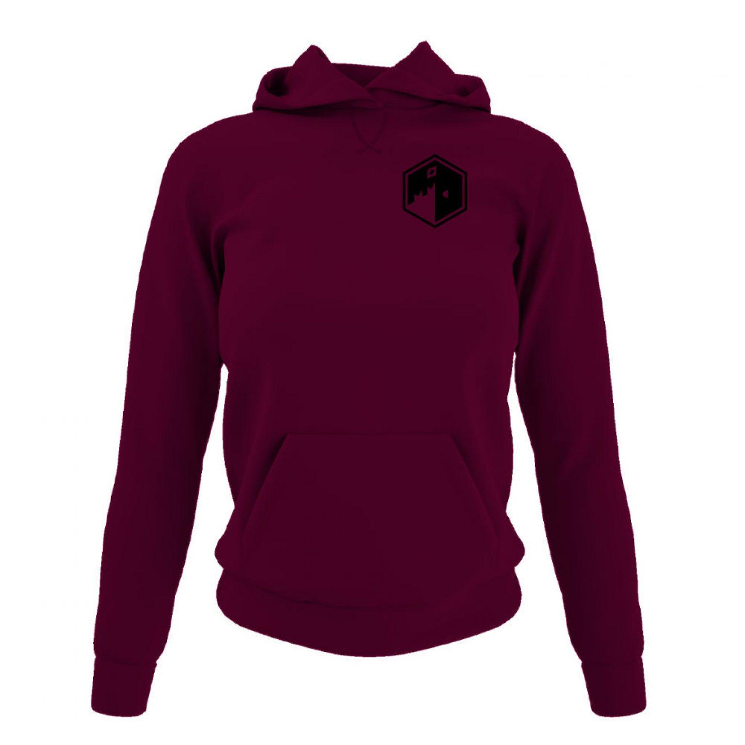 CFB hoodie damen burgundy front