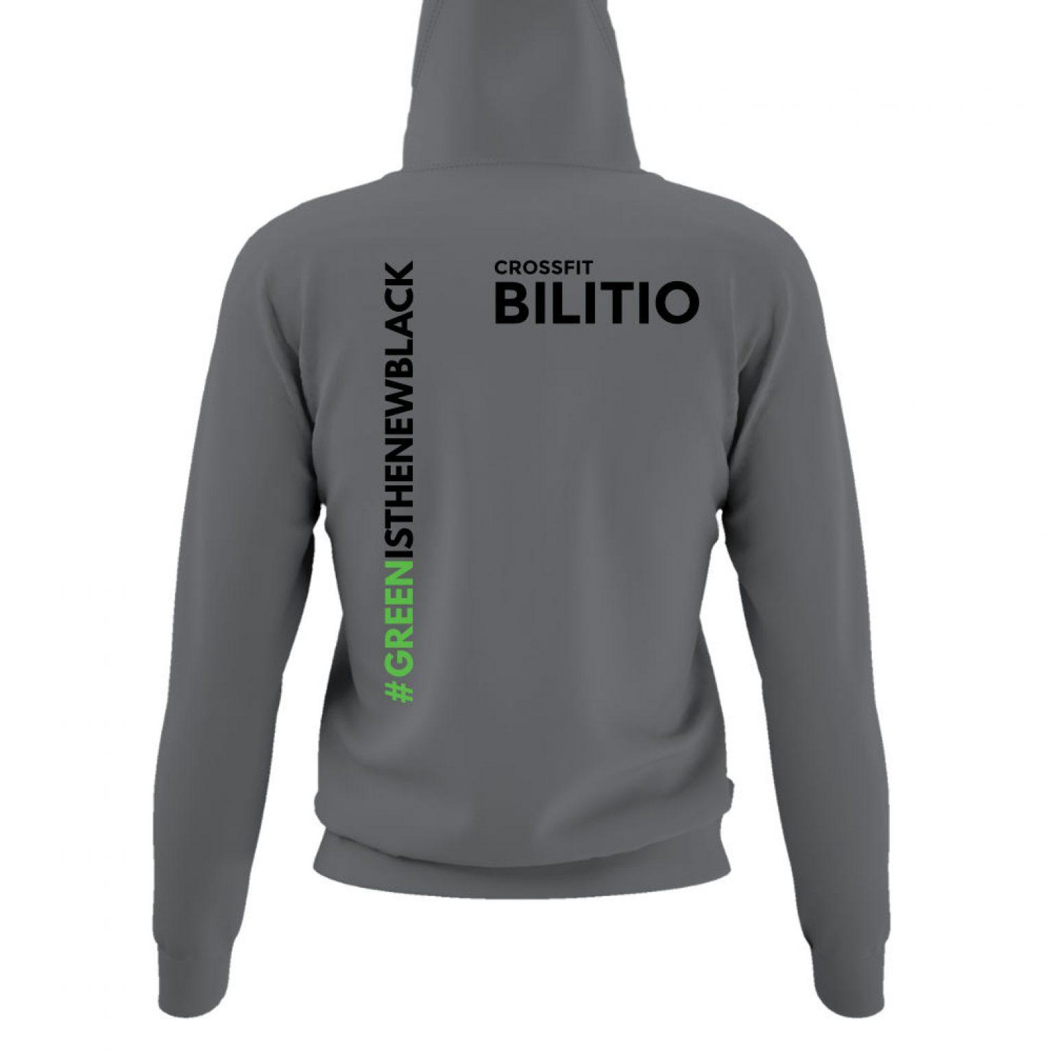 CFB hoodie damen grey back