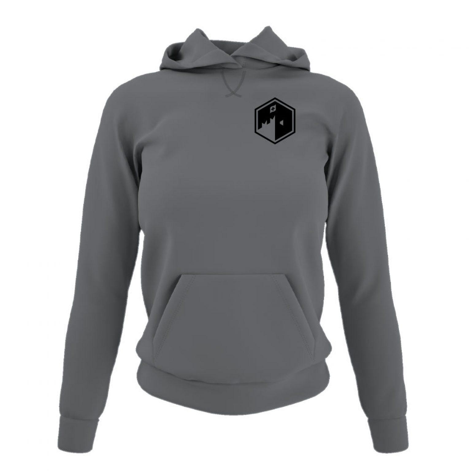 CFB hoodie damen grey front