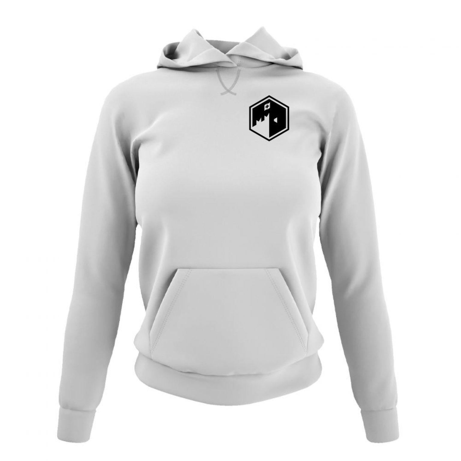 CFB hoodie damen white front