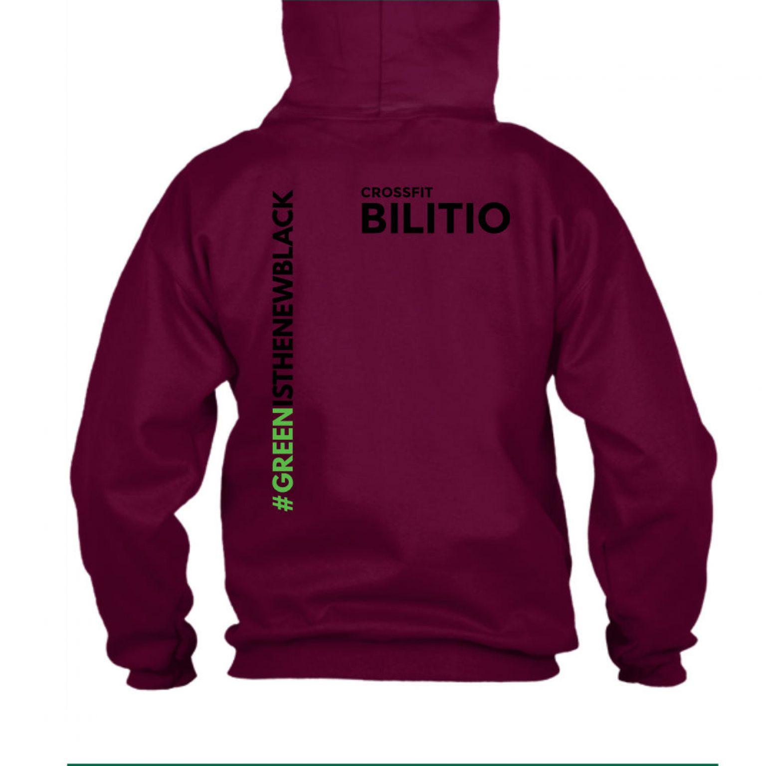 CFB hoodie herren burgundy back