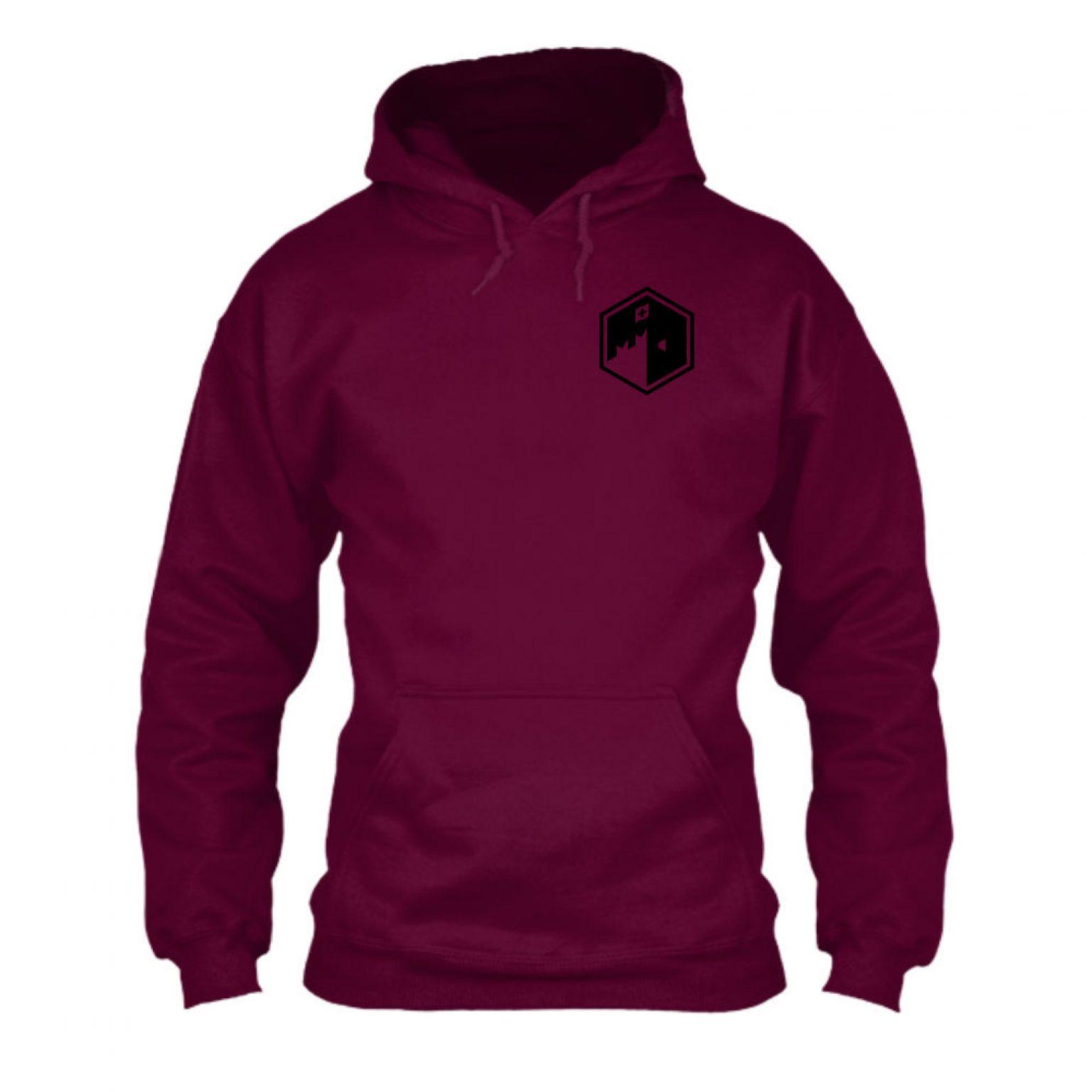 CFB hoodie herren burgundy front