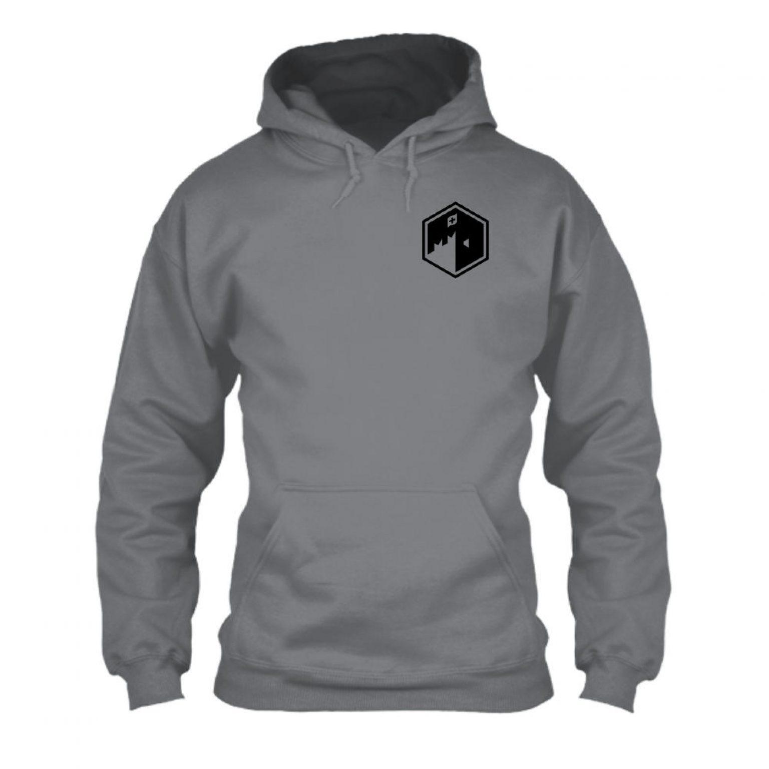 CFB hoodie herren convoygrey front