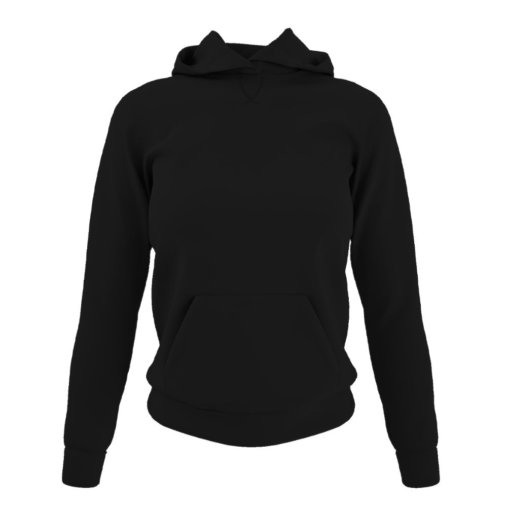 Damen hoodie black front