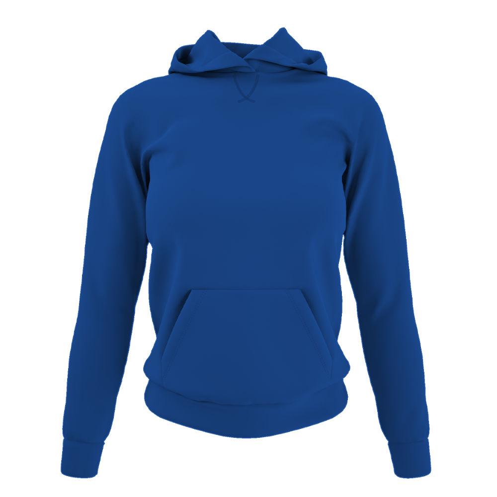 Damen hoodie blue front