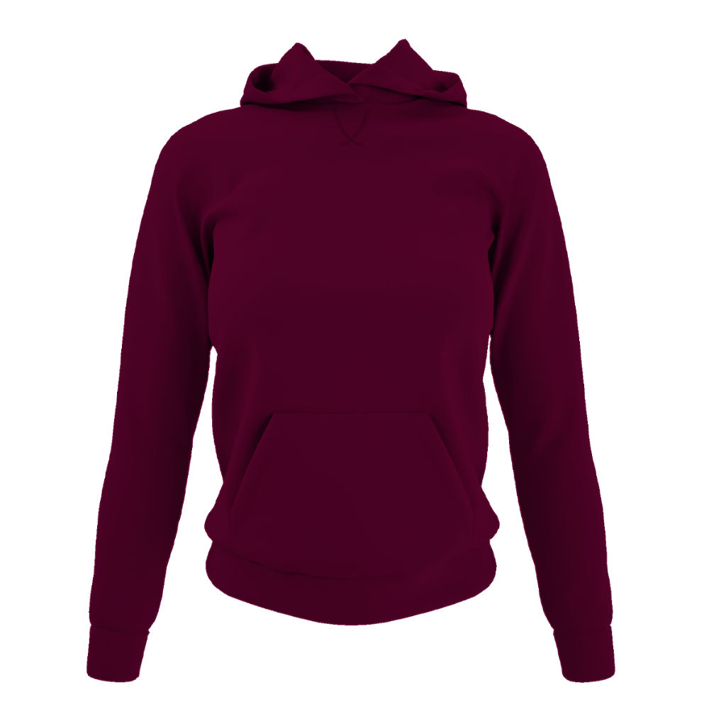 Damen hoodie burgundy front