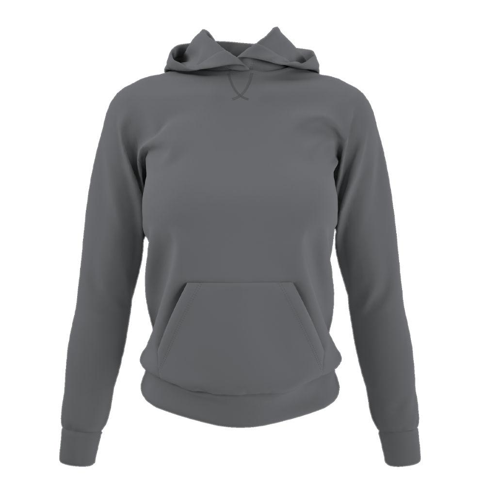 Damen hoodie grey front