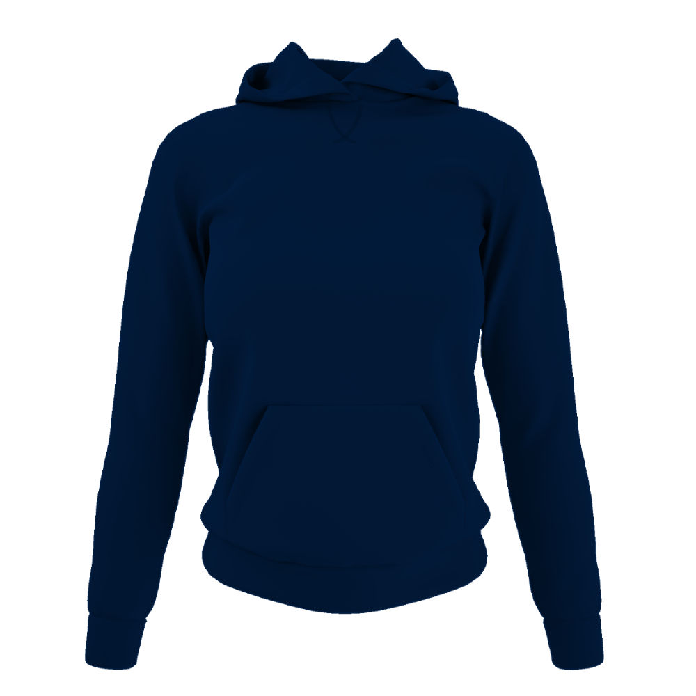 Damen hoodie navy front