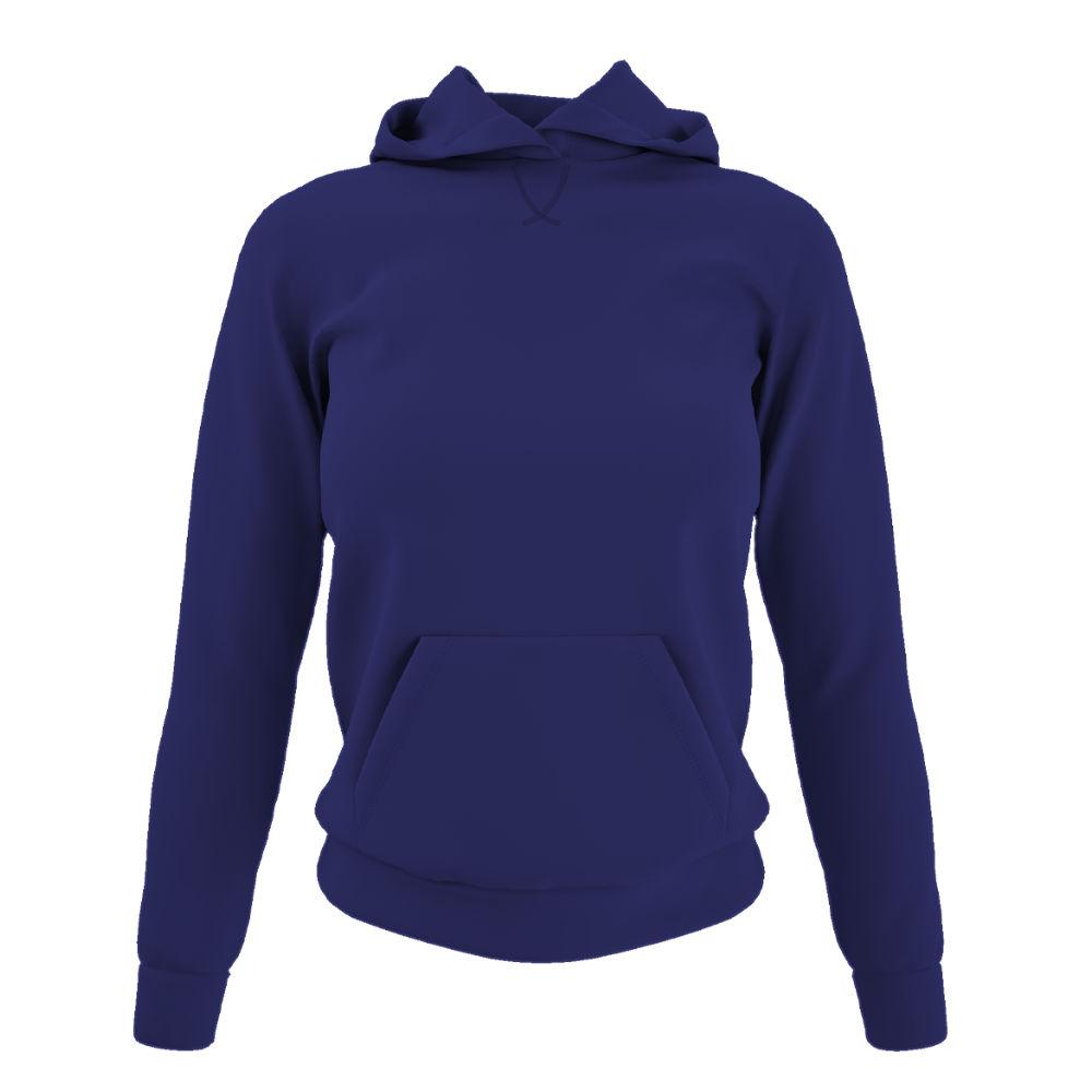Damen hoodie purple front