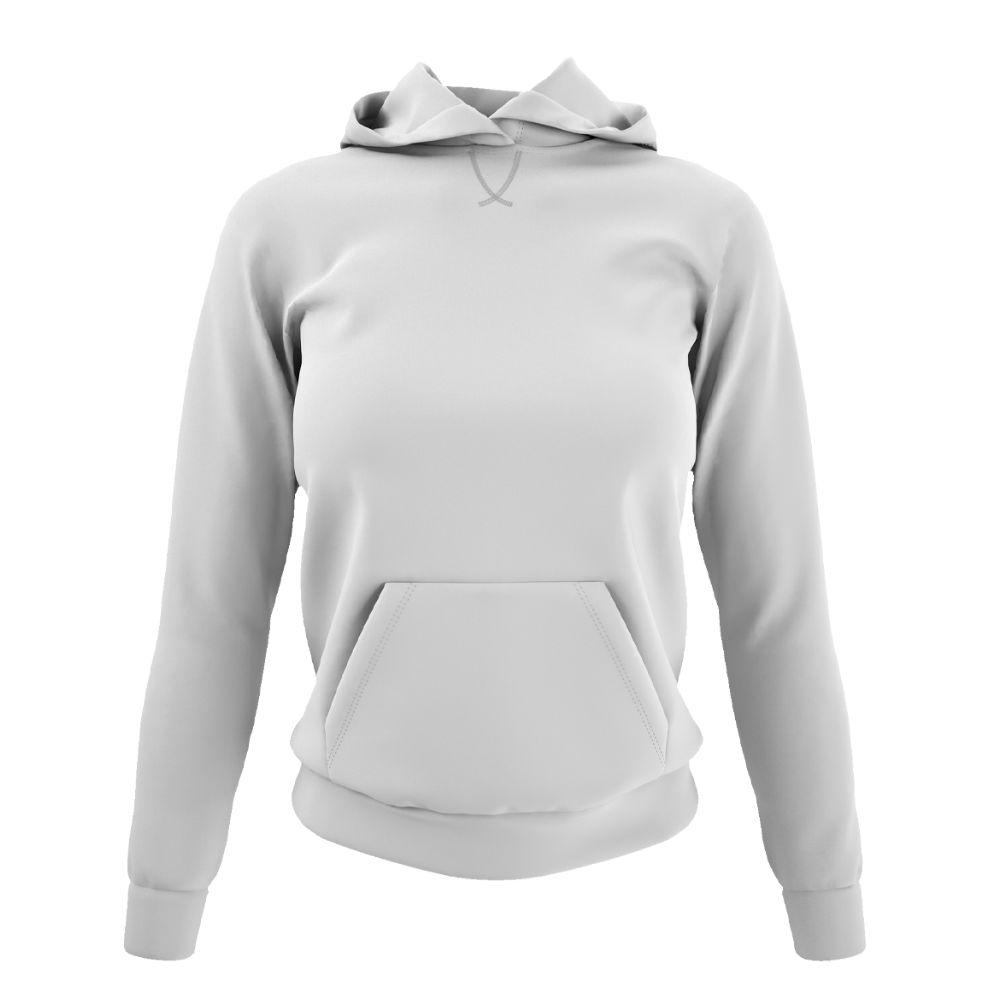 Damen hoodie weiss front