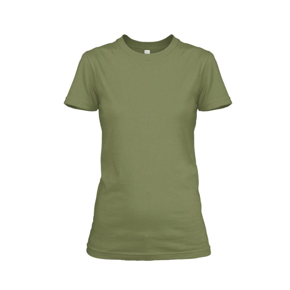 Damen shirt milgreen front
