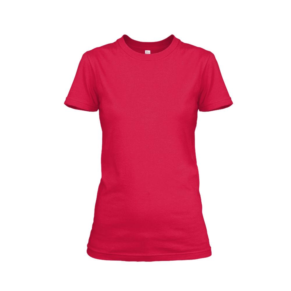 Damen shirt red front
