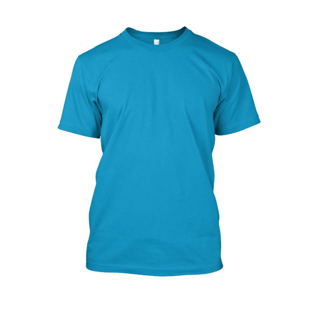 Herren shirt turquoise front