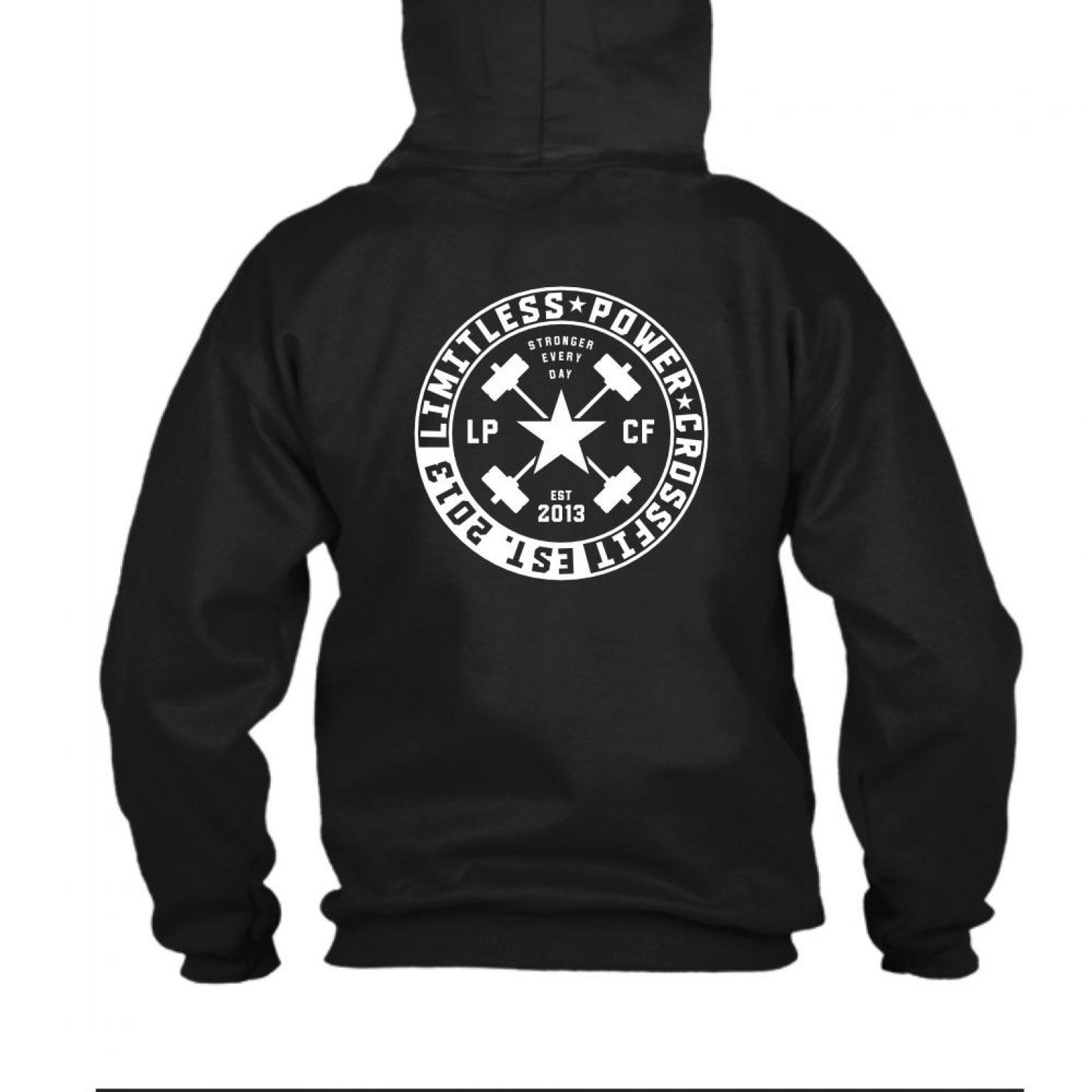 LPcircle hoodie black back