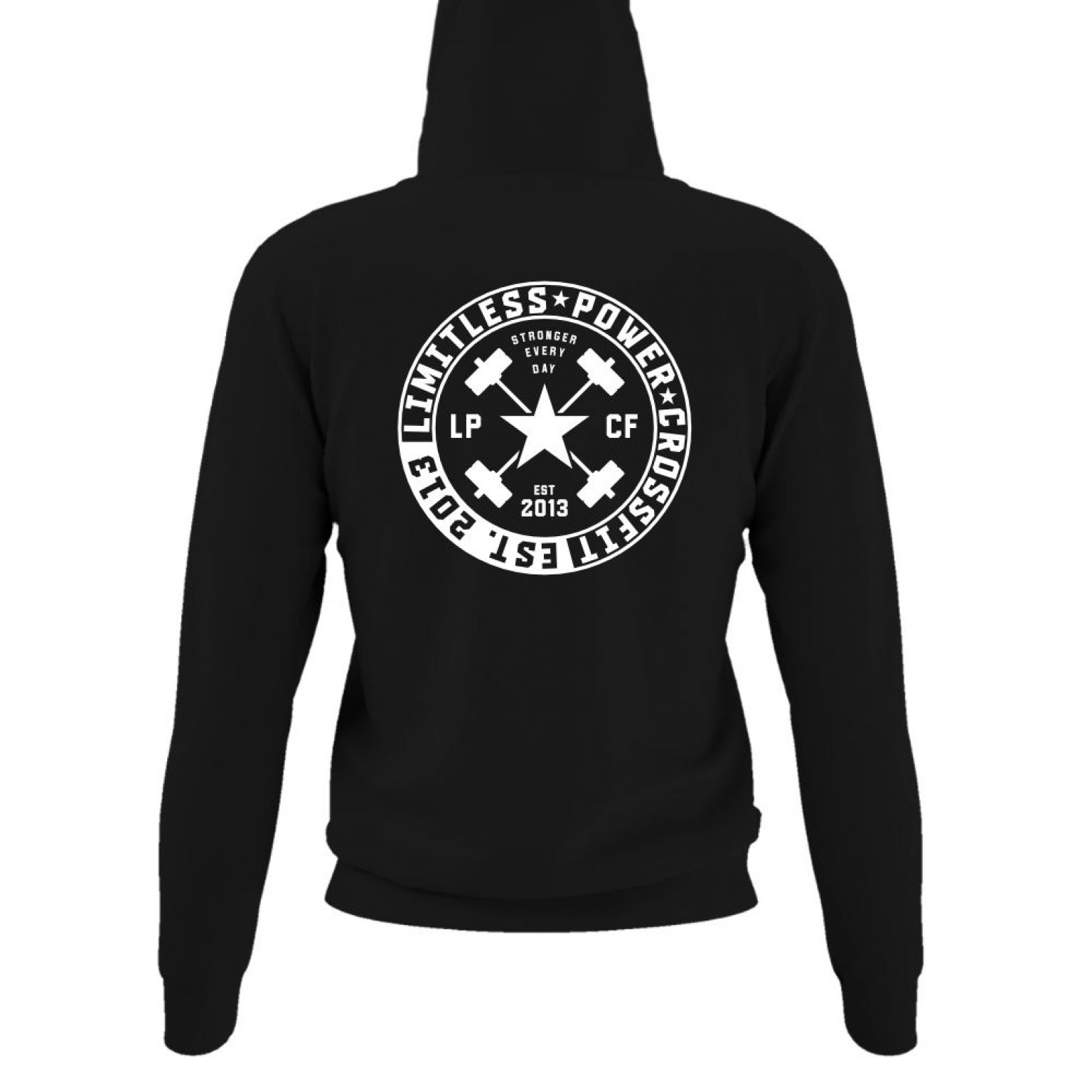 LPcircle hoodie damen black back