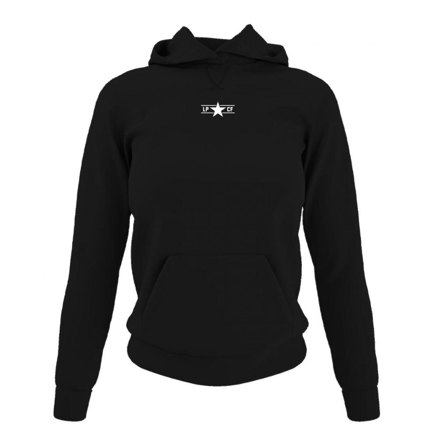 LPcircle hoodie damen black front