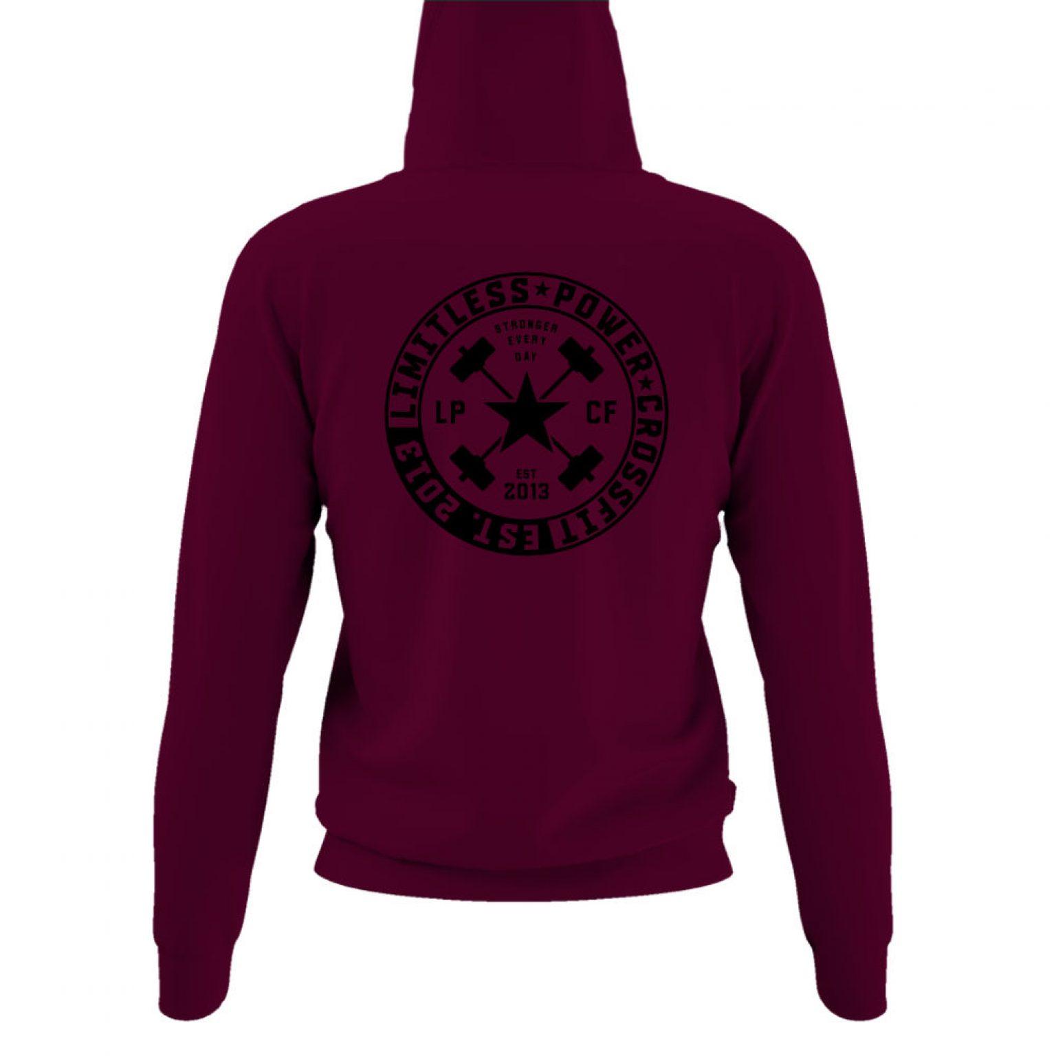 LPcircle hoodie damen burgundy back