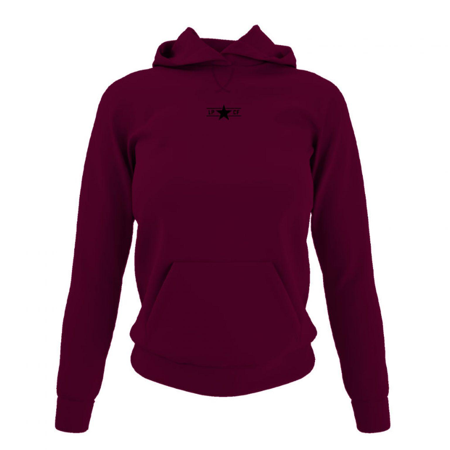 LPcircle hoodie damen burgundy front