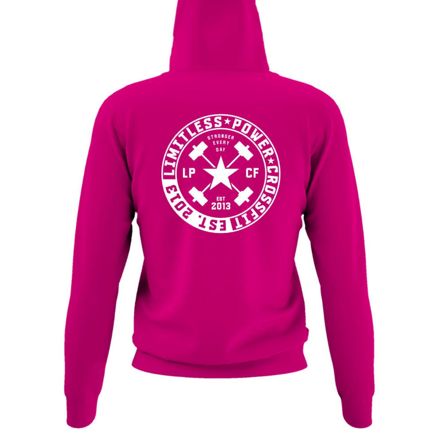 LPcircle hoodie damen fuchsia back