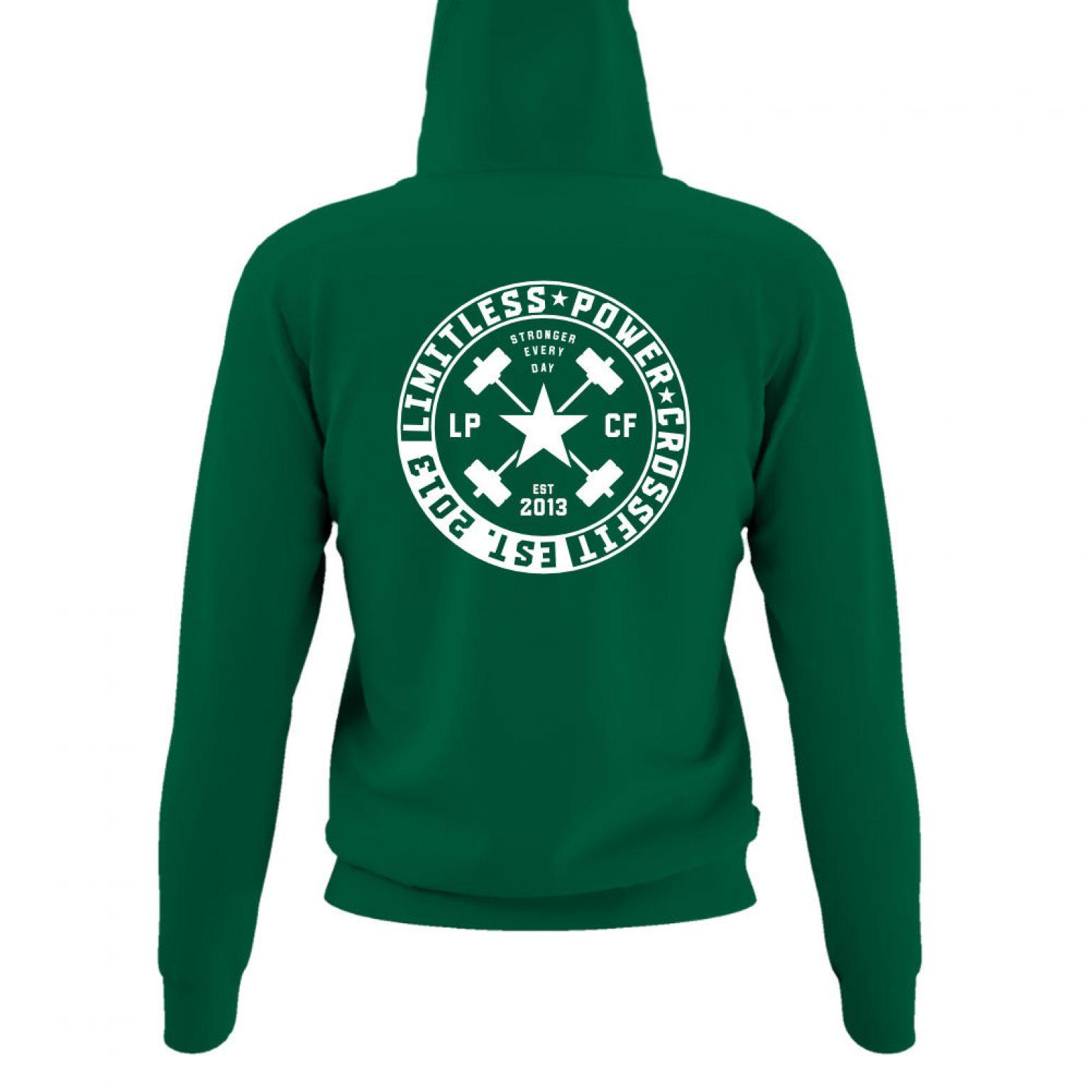 LPcircle hoodie damen green back