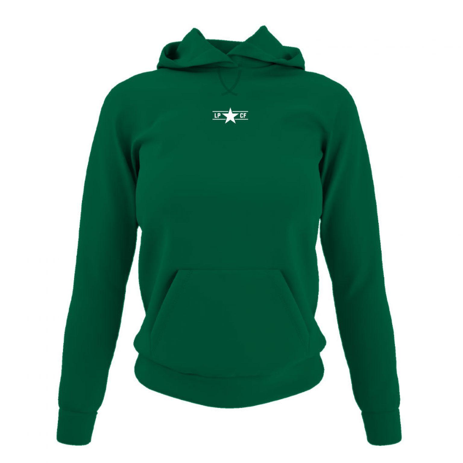 LPcircle hoodie damen green front