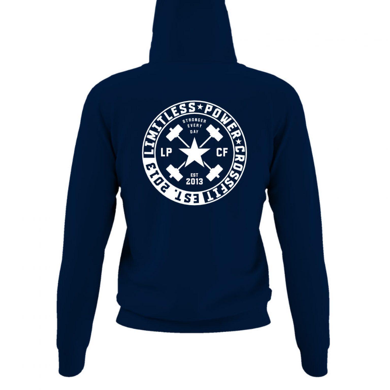LPcircle hoodie damen navy back